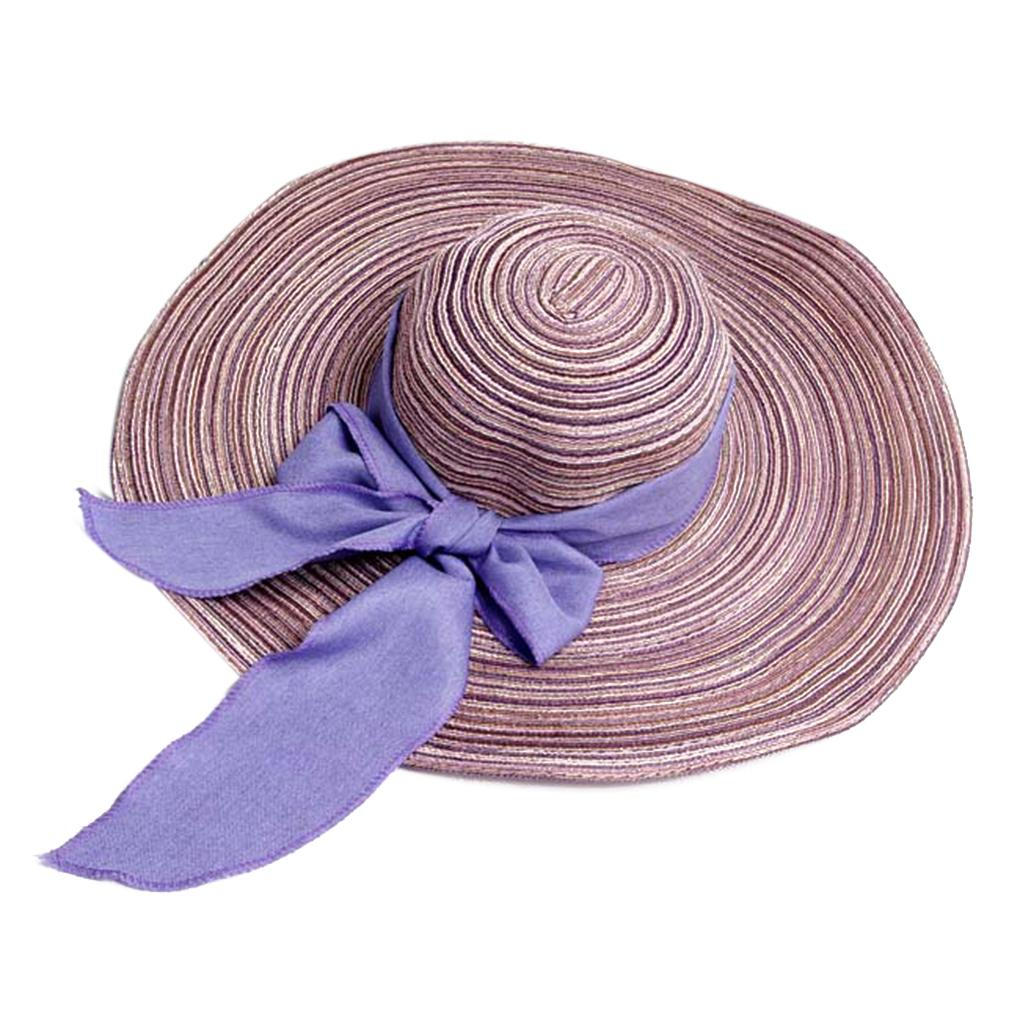 7d7979bec6ee7 Retro Bowknot Large Wide Brim Straw Hat Floppy Foldable Roll Up Sun Hat  Beach Cap For Women Casual Black Hats Scala Hats From Wdrf