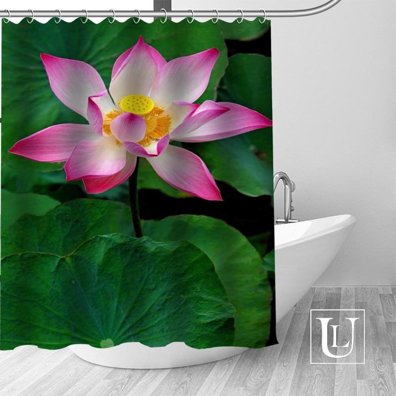 2018 Best Nice Custom Lotus Shower Curtain Personalized Pattern Bath Waterproof Fabric For Bathroom More Size From Huweilan 3148