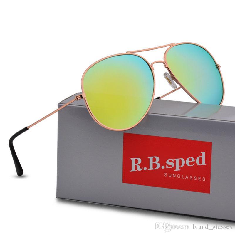 Compre Gafas De Sol De Marca De Lujo Para Hombres Mujeres Espejo De Diseño  Piloto Clásico Gafas De Sol Polarizadas UV400 Gafas De Conducción Con  Estuches ... 78ba977250ce