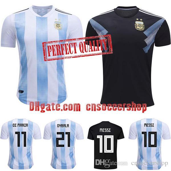 fb64b43e1 Camisetas De Fútbol De Argentina 2018 2019 S 4XL Camiseta De La Copa Del  Mundo Camiseta De Fútbol De Argentina Kit De Calidad Perfecta Messi  Camiseta ...