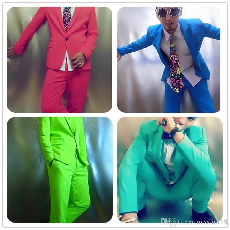 c108615c166b8 Red Green Blue Suitjacket+pantsNeon Blazer Set Multicolour Suit Set ...