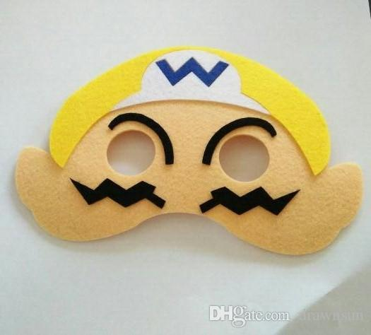 Çocuklar Karikatür Yarım Yüz Maskesi Mario Trolls Haşhaş Şube Karikatür Animasyon Parti Maskesi