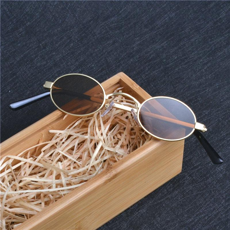 567a7fec55ad X907 Small Oval Sunglasses For Men Male Retro Metal Frame Yellow Red  Vintage Small Round Sun Glasses For Women 2018 With Box FML Victoria  Beckham Sunglasses ...