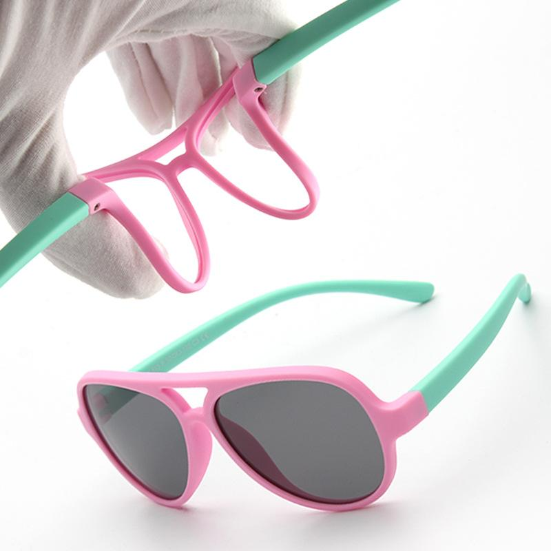 ef28585339 2019 AGEKSUL Kids Sunglasses Aviation Children Sun Glasses Pilot Baby  Sunglasses 100% UV Protection Foldable Frame For Travel Party From Towork