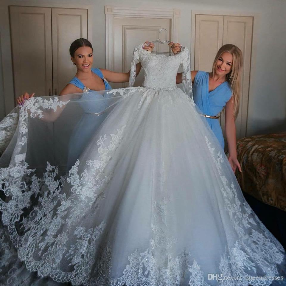 Sexy White A Line Wedding Dresses Lace Long Sleeve Off Shoulder Floor Length Formal Wedding Gowns Bridal Dresses Custom Made Brautkleider