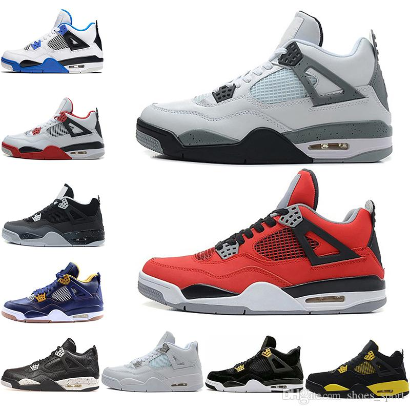 92003201fc7aff 4 Basketball Shoes 4s Oreo Cactus Jack Pure Money Royalty Toro Bravo Bred  Cavs Cement Fear Pack Mars Blackmon Motosports Sports Sneakers Mens  Basketball ...