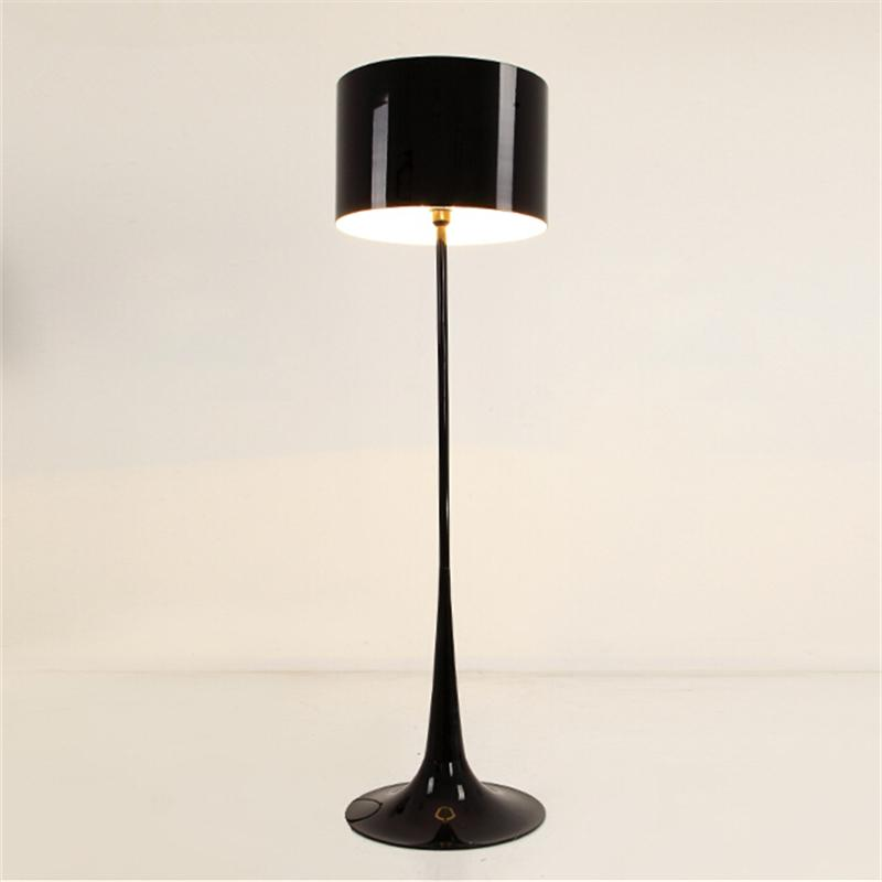 H162cm whiteblack wrought iron floor lamp modern living room h162cm whiteblack wrought iron floor lamp modern living room stand lamps led light office apartment bedroom decoration fl 11 floor lamp modern living room mozeypictures Gallery