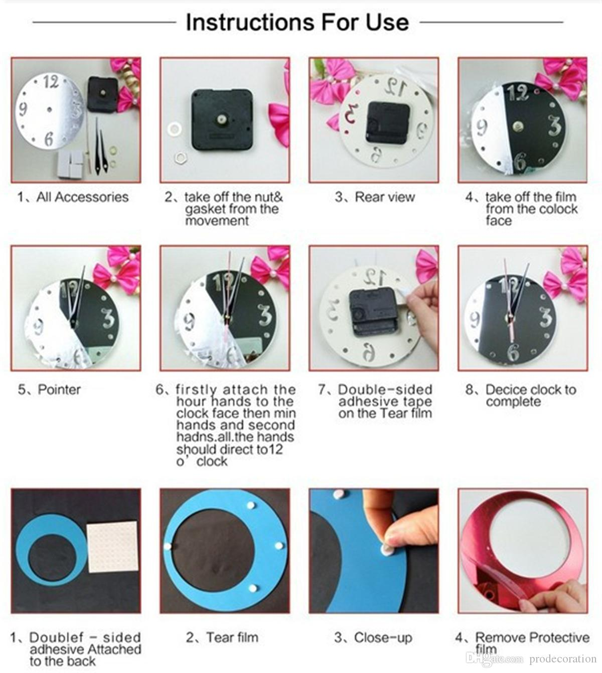 Top Fashion New Home Decoration 3D Mirror Acrylic Clocks Safe Modern Design Wall Clock Watch Sticker Romae Digital Wall Clock Sticker