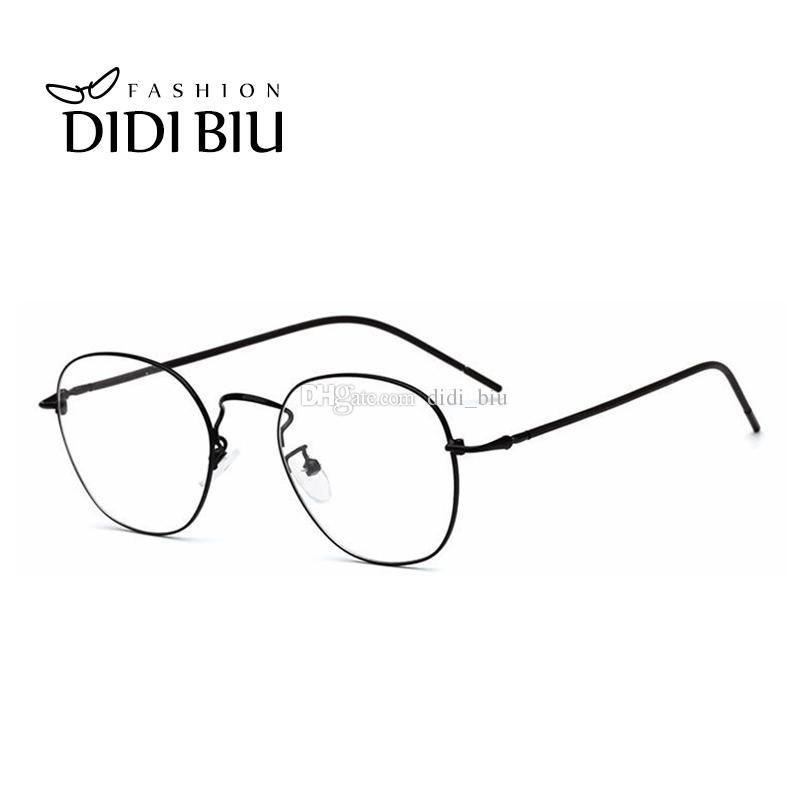 59c05e872c32b 2019 DIDI Oval Women Prescription Optical Eyeglasses Frames Men Vintage  Thin Metal Myopia Glasses Decoration Fashion Eyewear WL980 From Didi biu