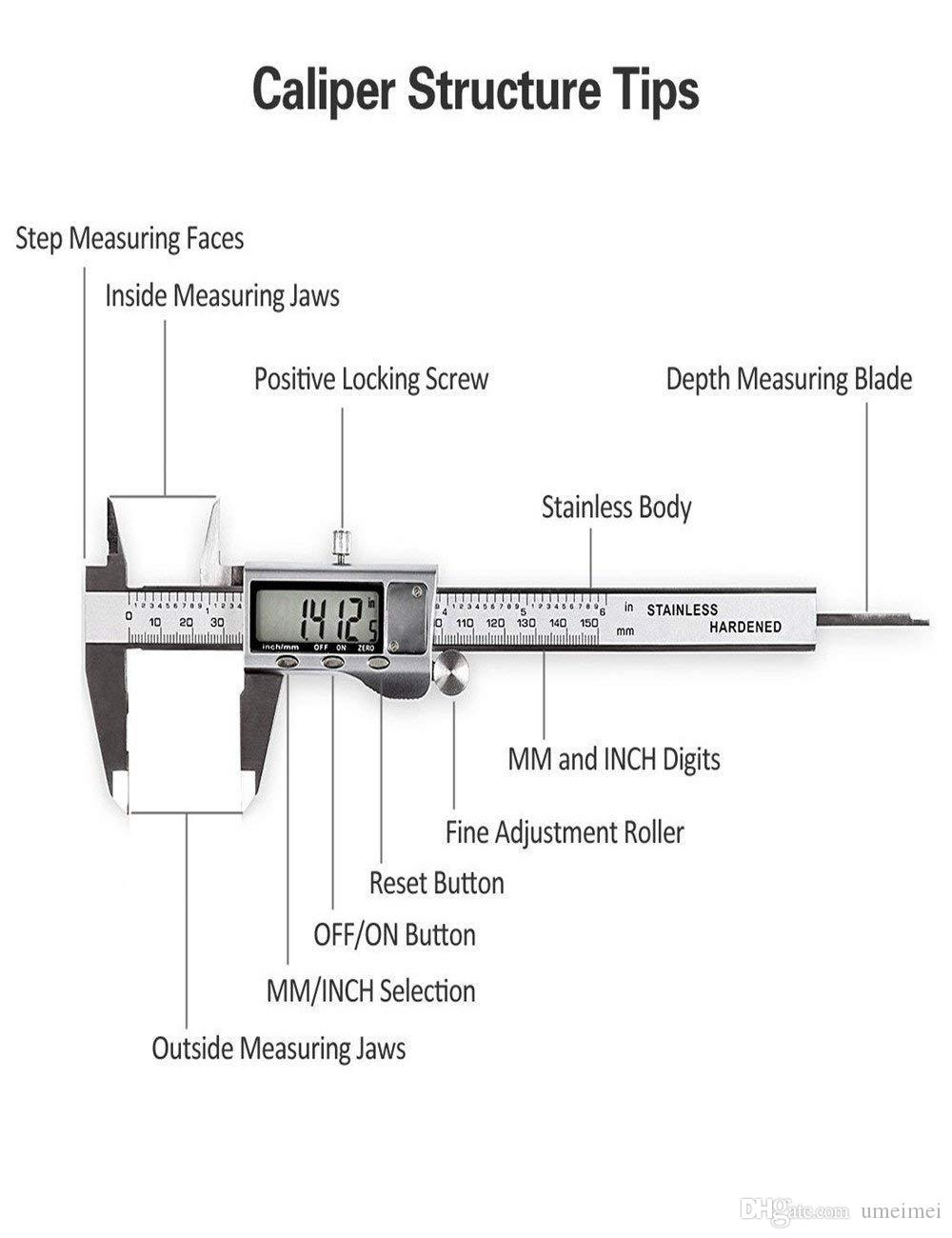 digital vernier caliper with extra large lcd screen. Black Bedroom Furniture Sets. Home Design Ideas