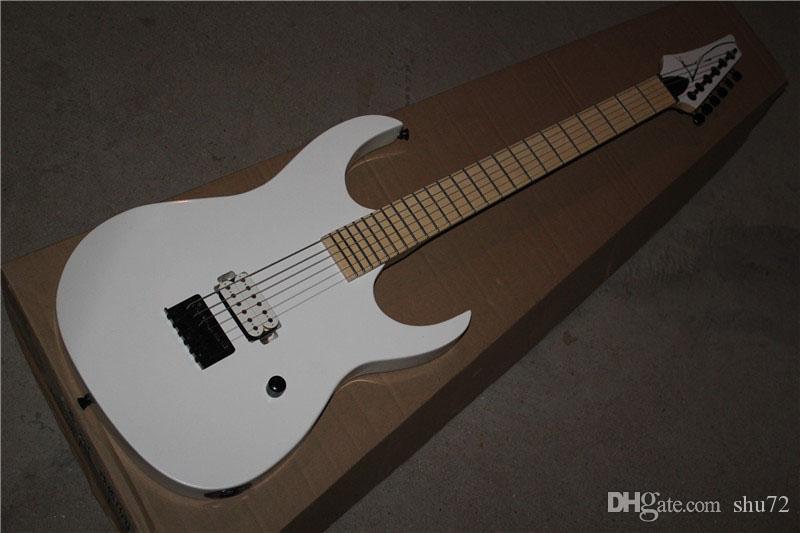 Top quality New Arrival White Electric Guitar reversed headstock one Pickup 1117