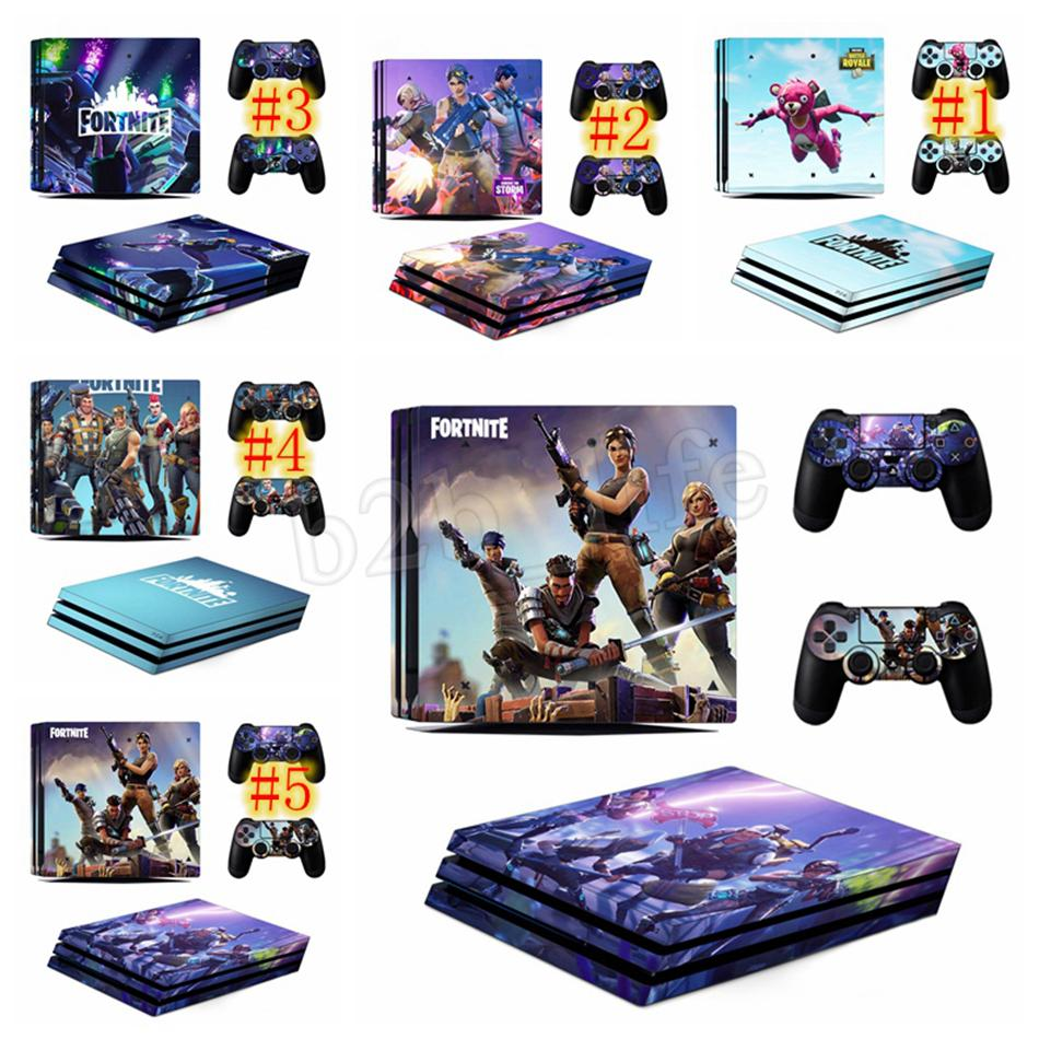 Game Fortnite Battle Royal Ps4 Slim Skin Sticker For Playstation
