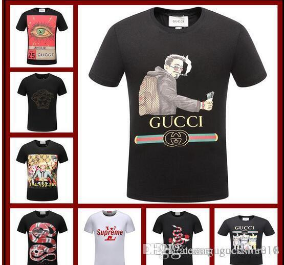 d94d020ebba 2018 Designer Mens Clothing Luxury Shirt Summer Fashion Tide Streetwear  Tiger Snake Rose Print Short Sleeve Size M 3XL Great T Shirts Buy T Shirt  From ...