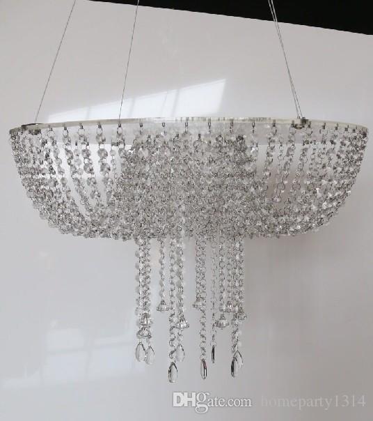 romantic luxury suspending Tall cake pan chandelier crystal Wedding Cake Stand Crystal wedding big cake flower vase holder with light