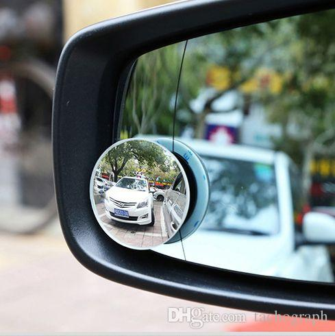 High definition frameless adjustable 360 degree small mirror convex glass wide angle auxiliary blind spot mirror