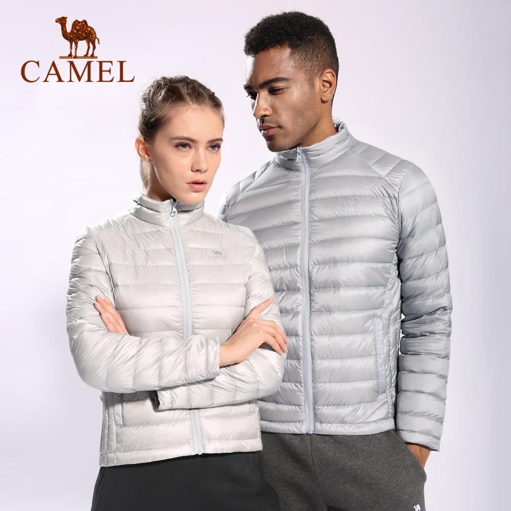 9a28dfd75 CAMEL Men's Sports Down Jacket Autumn and Winter Light Down Jacket Collar  Light Warm with 90% White Duck