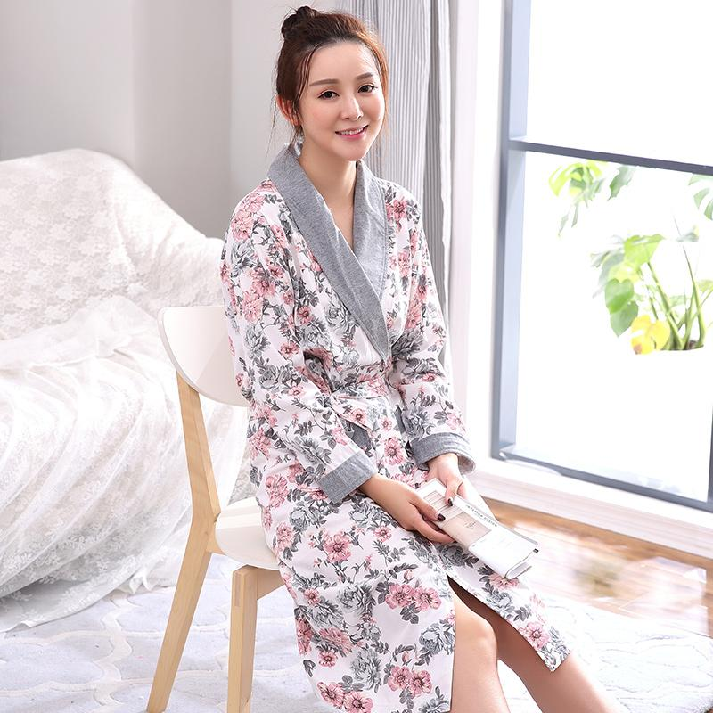 af709c6252 2019 Cotton Robe For Sleep Plus Size L XXXL Women Autumn Long Sleeve  Nightgown Loungewear Bathrobe Sexy Pijamas Feminino Inverno From Yakima, ...