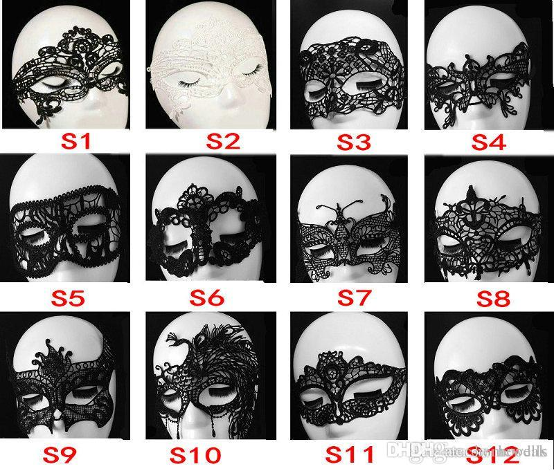 200PCS Halloween Women Sexy Masquerade Masks Lace Masks Venetian Half Face Mask For Christmas Cosplay Party Nihgt Club Ball Masks