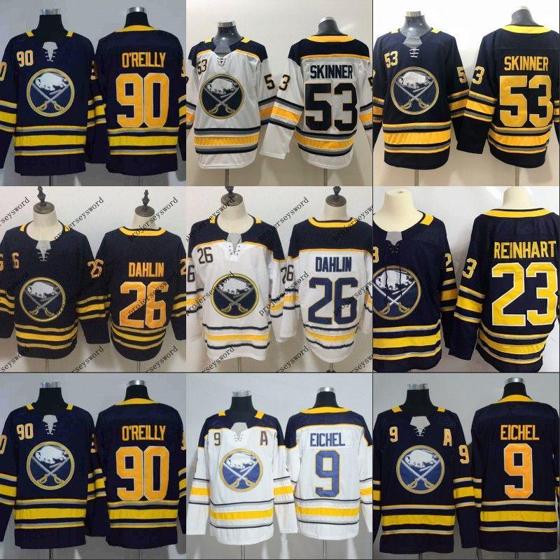 super popular 45d26 e0bb5 Mens 2018 New Brand Buffalo Sabres 26 Rasmus Dahlin Jersey 15 9 Jack Eichel  23 Sam Reinhart 100% Stitched Hockey Jerseys Cheap