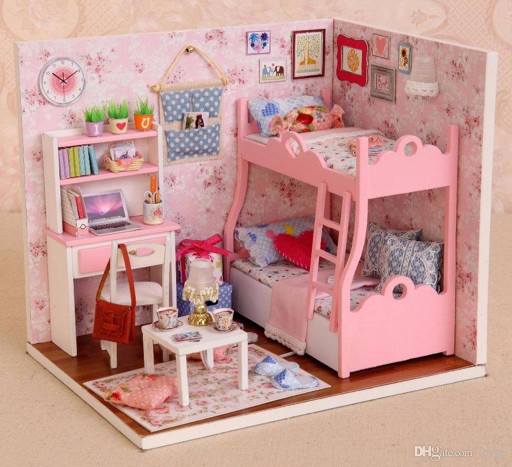 New Leisure Toy Doll House Handmade Birthday Gift Assembled Toy diy Cottage Architectural Models Mood for Love