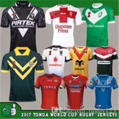 43fa5c51ada 2019 RLWC2017 TONGA World Cup Fita Rugby League Jerseys New Zealand Lebanon  2018 Australia Jersey Kiwis PNG Fiji Ireland England Samoa Shirts NRL From  ...