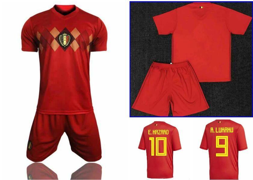 super popular fe2f5 40c53 2018 world cup HAZARD LUKAKU BELGIUM belgium soccer jersey DE BRUYNE  FELLAINI 18 football shirt kit camisetas de futbol maillot foot chandal