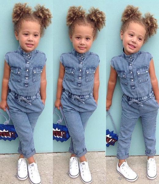 b682123243c9 NEW Toddler Kids Baby Girls Denim Shirt Romper Playsuit Pants Outfits  Clothes UK 2019 From Strawberry9