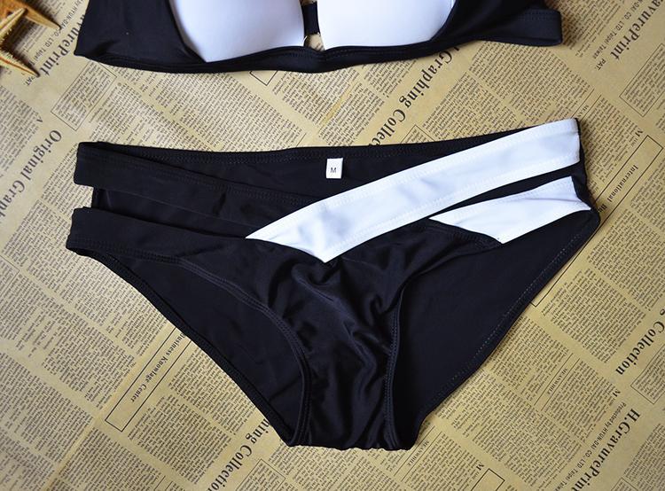 2018 Yeni stiller Bikini Set Kadınlar Bayanlar Seksi Siyah ve Beyaz Mayo kadınlar için suit Bandaj Biquinis mayo S-XL, CH-YH003