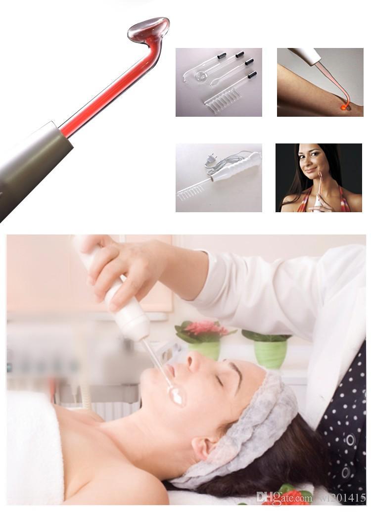 4In1 Électrothérapie Haute Fréquence Machine Tube De Verre Beauté Dispositif Détachant Tache Face Cheveux Corps Soins De La Peau Spa Beauté Équipement JX006
