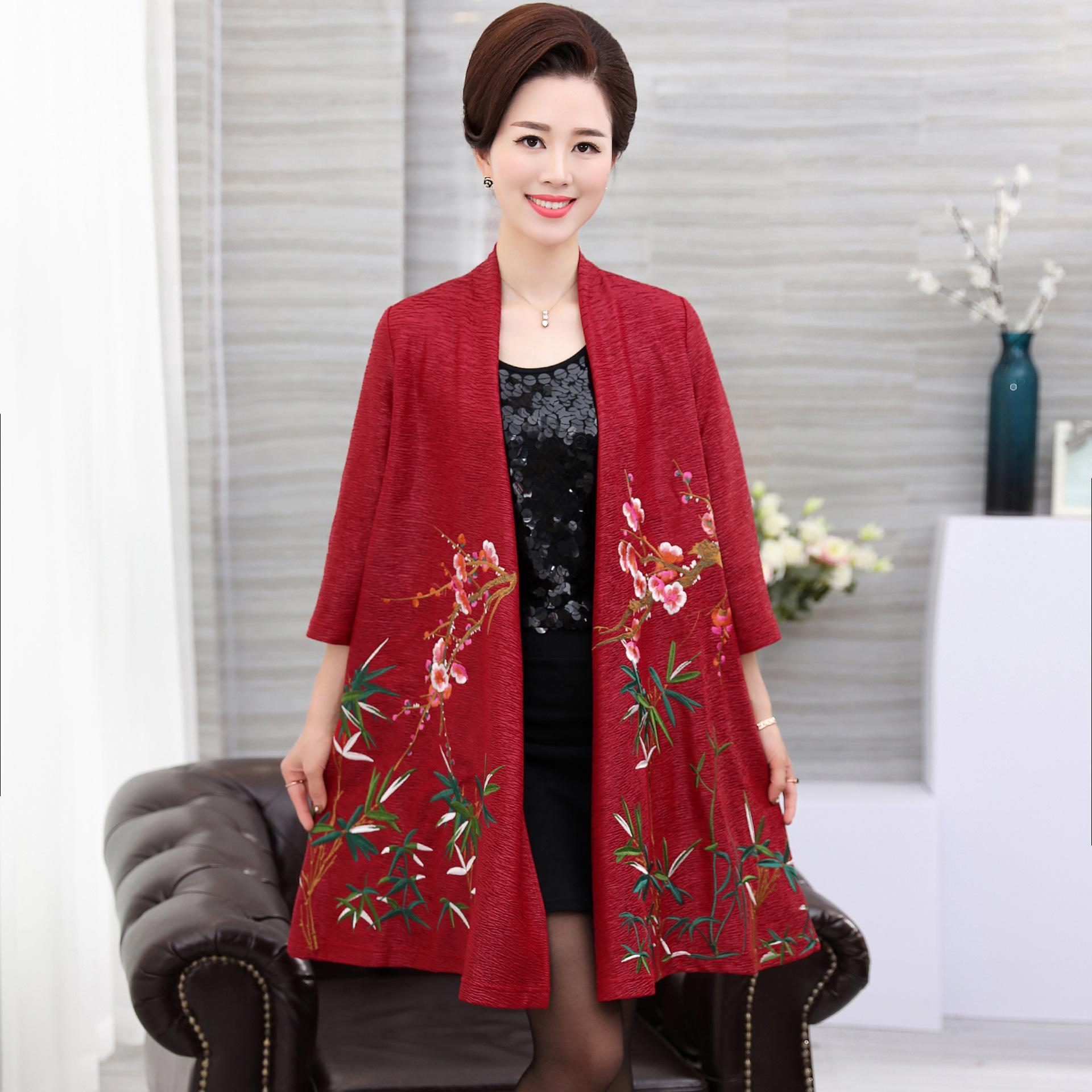 ad8d99e06ad NIFULLAN Fashion Women s Embroidery Jacket Coat Loose Plus Size Mother  Clothing Oversize Shawl Cape Outerwear Cardigan Casual Jacket Lightweight  Jacket From ...