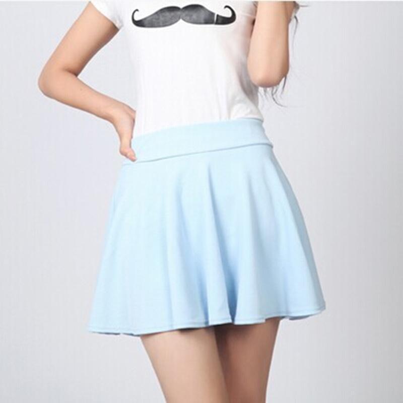 86ea7e0c2fdc 2019 Estilo de Verano Falda Sexy para Mujer Señora Coreana Falda Plisada  Corta Moda Mujer Alta Wsist Mini Falda Ropa de mujer