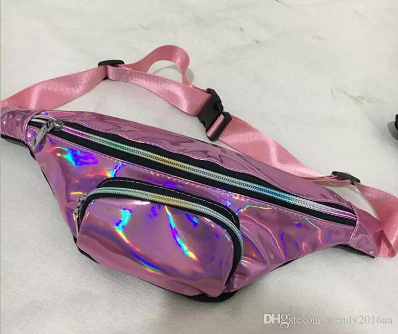 2018 New Unisex Chest BackageBags Fanny For Women Custom PU Laser Waist Bag Top quality Tourist beach for phone Bags