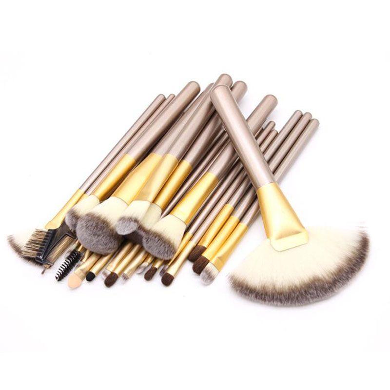 Maquiagem Escova MyBasy Novo Design Profissional Bege Escovas de Maquiagem Conjuntos Cosméticos Oval Fundação Cosmética BB Creme Pó Blush DHL