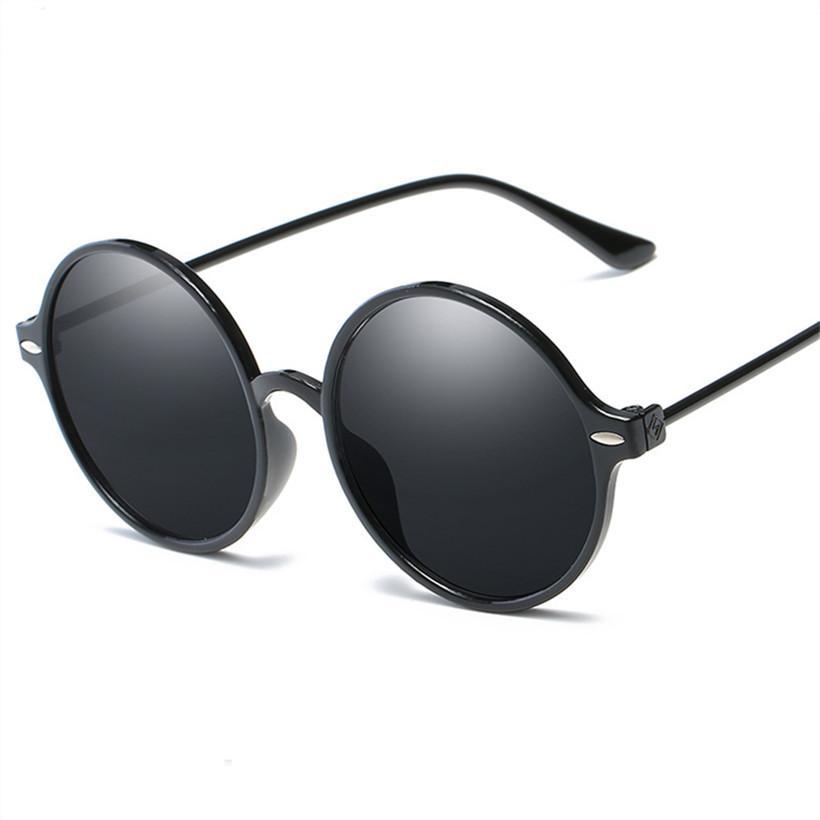 5e7f035e6c NYWOOH Round Sunglasses Women Men Reflective Mirror Sun Glasses ...