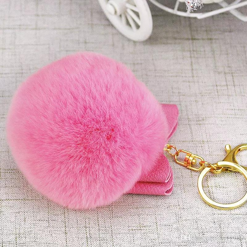 Compre Bola De Pelo Llavero Chica Arco De Peluche Corea Del Sur ... 751f7ee728d1