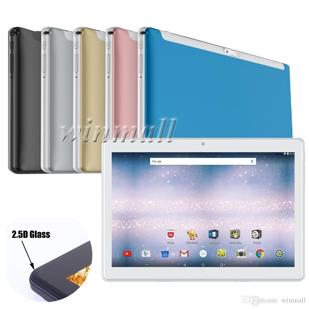 10 inch 2.5D touch Screen Metal body 3G Tablet PC MTK6580 Quad Core Android 6.0 1GB+16GB(show 4GB + 64GB) Phablet Phone