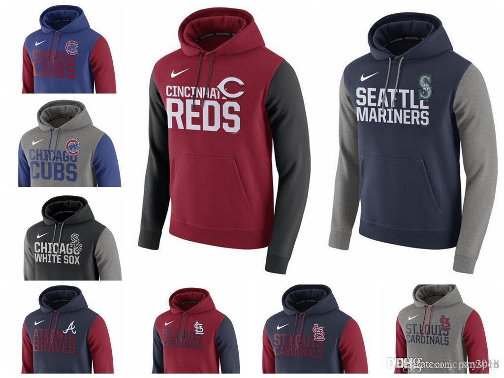 new style 05a1c 00261 Men s Chicago Cubs Atlanta Braves Cincinnati Reds Seattle Mariners St.  Louis Cardinals White Sox Royal Club Fleece Pullover Hoodie Dich