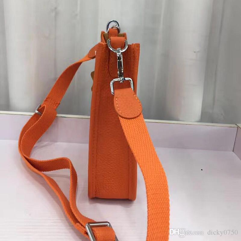 Großhandel Rind echtes Leder Umhängetasche Frauen arbeiten Schulterbeutel Minihandtaschen Polychromatic Einkaufstasche Geldbeutel Umhängetasche