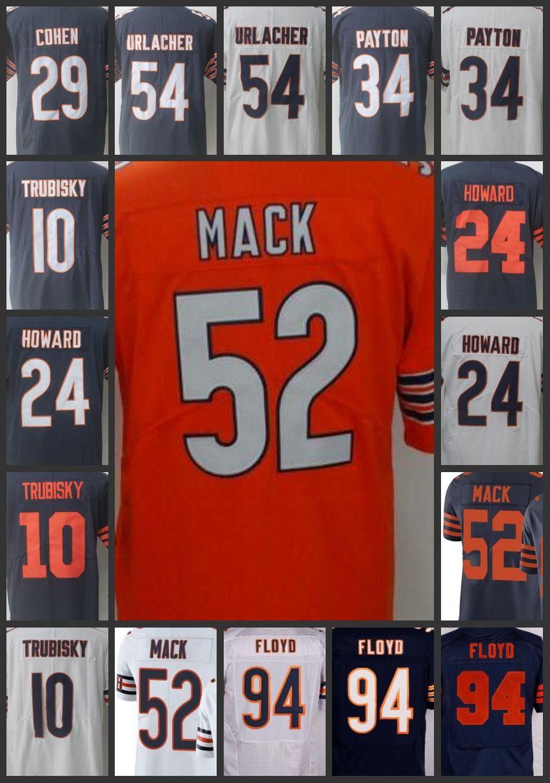 innovative design cf48f 63105 Chicago Bears Men Women #52 Khalil Mack Jersey 10 Bear Mitchell 99 Lamarr  Houston 29 Tarik Cohen 34 Walter Payton Youth Limited Jerseys
