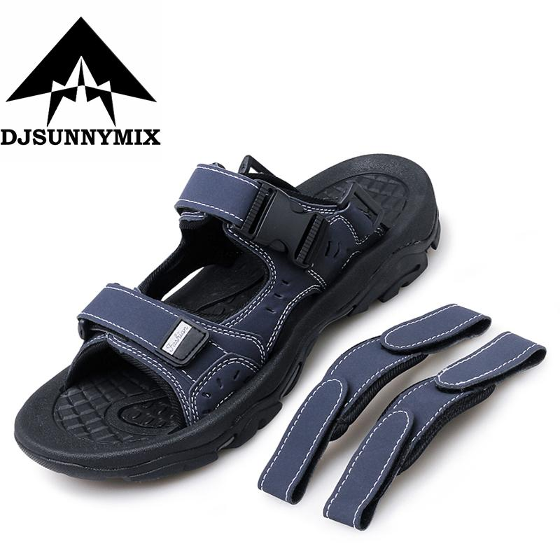 33f419d059b0 DJSUNNYMIX Men S Sandals Summer High Quality Brand Shoes Beach Men Sandals  Men Causal Shoes Cow Suede Outdoor Waterproof Sandal Wedding Shoes Wedges  From ...