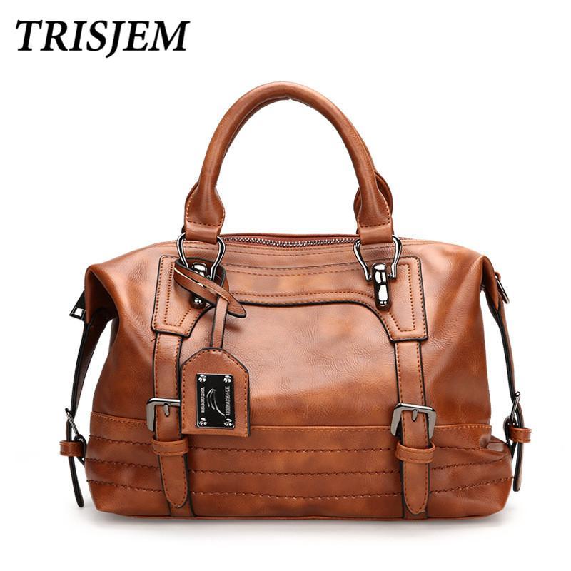 6f6d2aa2f2b0 Women Leather Handbag Women Crossbody Bag Female Shoulder Bag Women Vintage  Pu Leather Handbag Sac A Main Ladies Hand Bags Women Leather Handbag  Crossbody ...