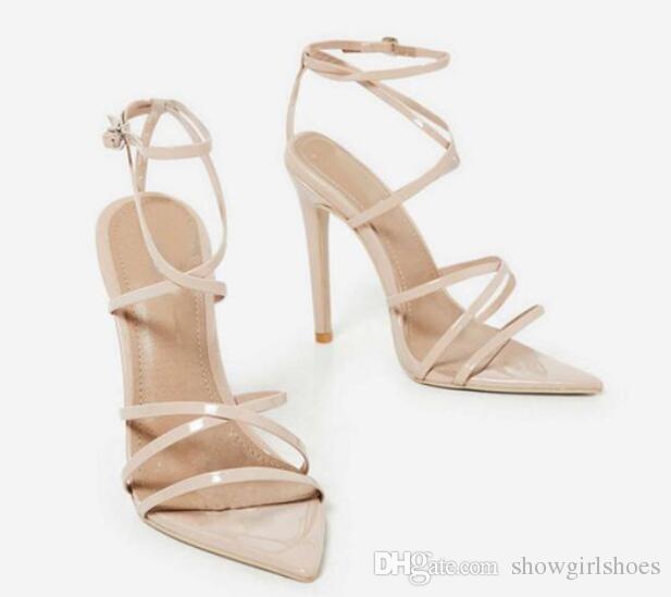 Sandales d'été femme hauts talons Super High 8cm-up Sexy chaussures à talons