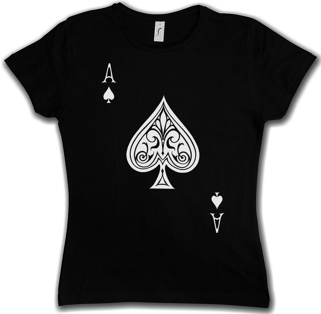 c68cdc8c9f1283 Dames  kleding ACE OF SPADES I DAMEN TANK TOP Spade Poker Card Casino Karte  Royal Flush ...