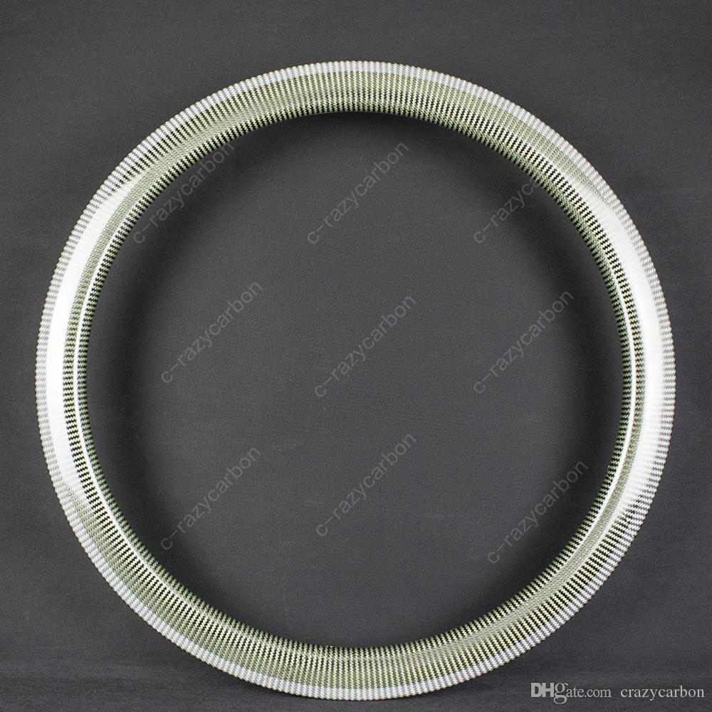 Wholesale OE Non-Painting Carbon Kevlar Rims Road Bike 700C Hot For Sale  50mm Clincher/Tubular Cycling Road Rims Carbon