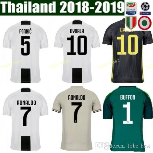 info for 6ea34 01bcd FC Juventus Soccer Jersey Men Serie A 18 19 Season 23 EMRE CAN 49 CUADRADO  8 MARCHISIO SZCZESNY Goalkeeper Football Shirt GK Kits
