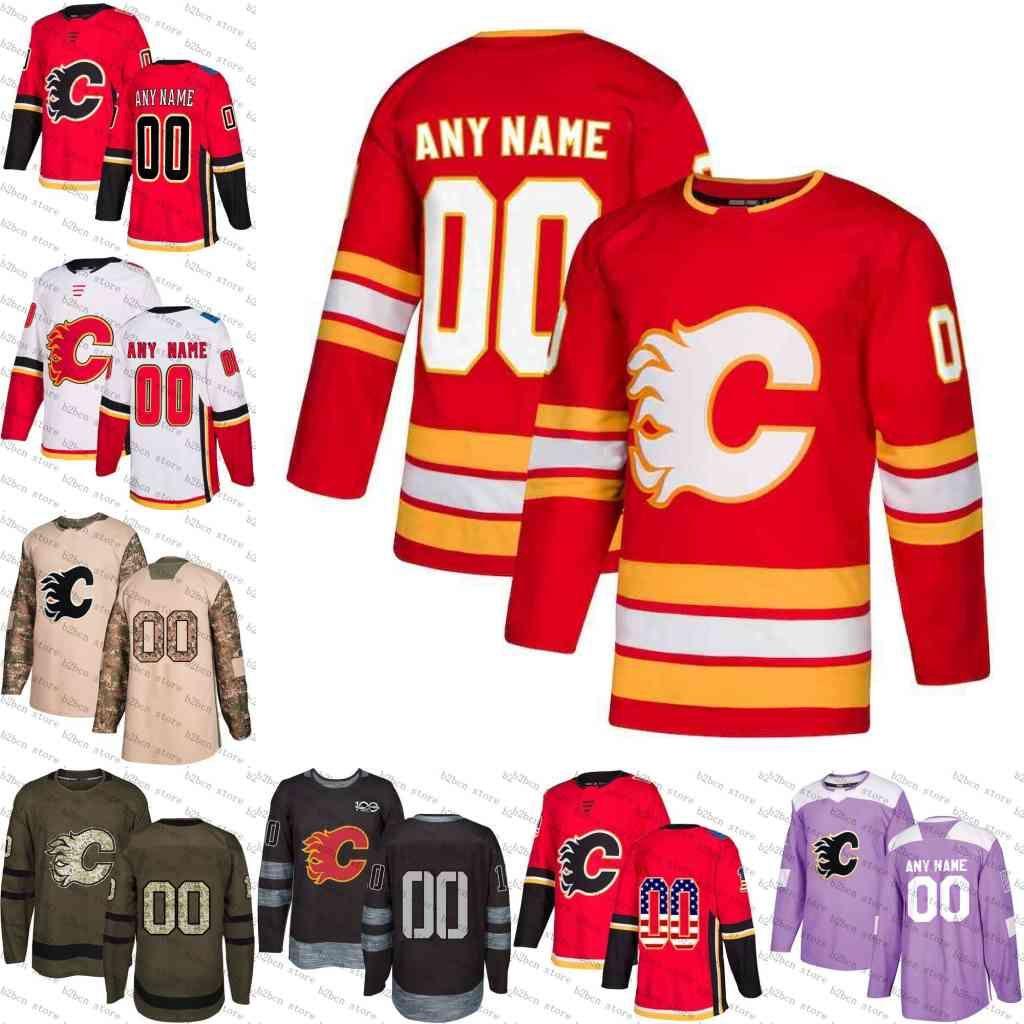 2248aa095 2019 2019 Red Alternate Custom Calgary Flames Men Women Youth Monahan  Gaudreau Tkachuk Smith Backlund Bennett Frolik Hockey Jersey Stitched S 4XL  From B2bcn ...
