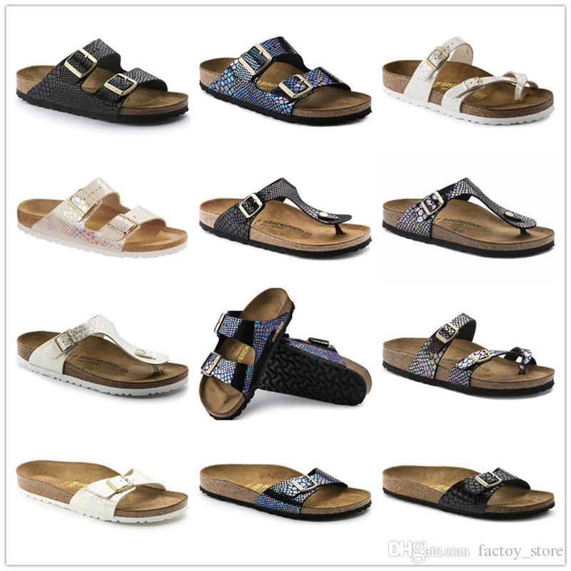 5a8e95cecd1315 Arizona 2018 New Summer Beach Cork Slipper Flip Flops Sandals ...