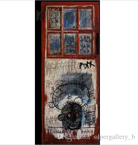 "Jean-Michel Basquiat ""Pork Sans"" High Quality Handpainted & HD Print Art Oil Painting Home Decor Wall Art On Canvas Multi Sizes g104"