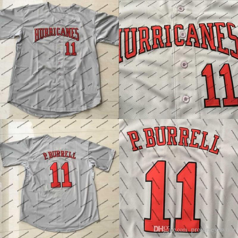 dd21b7c4b11 2019  11 Pat Burrell Jersey University Of Miami Hurricanes College 100%  Stitched Custom Baseball Jerseys Any Name   Number Grey From  Projerseysword