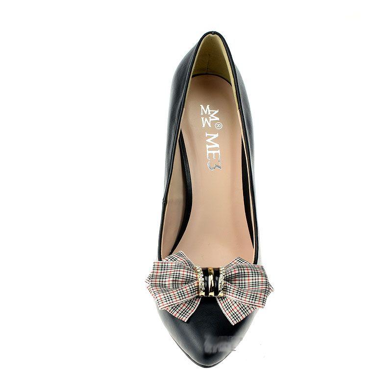 İngiliz Tarzı Ekose Ilmek Klasik Ayakkabı Dekorasyon Retro Ayrılabilir Ayakkabı Aksesuarları kadın Yüksek Topuklu Loafers için